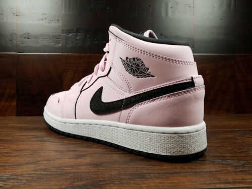 555112-601 Pink Foam // Black // White GS Girls 3.5-7 AIR JORDAN 1 MID AJ1