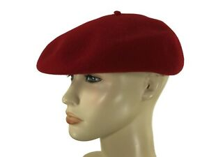 6b355192966 Laulhere Authentic French 100% Wool Beret Cap Hat Eva Red 7-7 1 8 FR ...