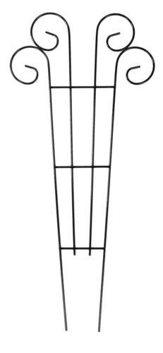 Metall Blumenspalier 62x28cm Rankhilfe Pflanzenstütze Rankgitter Kletterhilfe