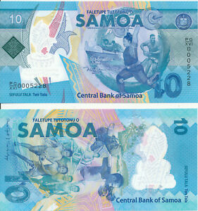 Samoa-10-Tala-2019-UNC-Pick-New-Polymer-Commemoration-issue