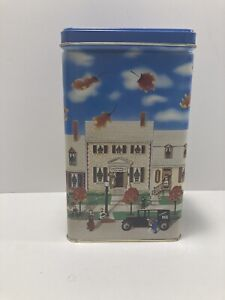 """VINTAGE FOOD 1990 6 3/4"""" HIGH HERSHEY'S CHOCOLATE KISSES TIN CAN EMPTY"""