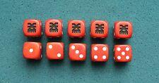 30K 40K AOS Chaos Khorne Custom Engraved Dice x10 16mm (P17)