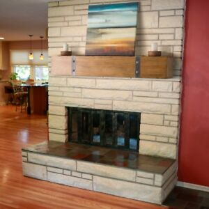 Image Is Loading Wood Fireplace Mantel Rustic 6 Foot Solid Floating