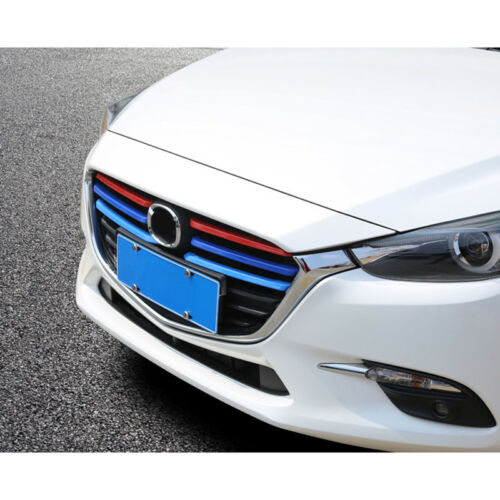 ABS Chrome Front Center Grille Grill Cover Trim 6pcs for Mazda 3 AXELA M3 2017
