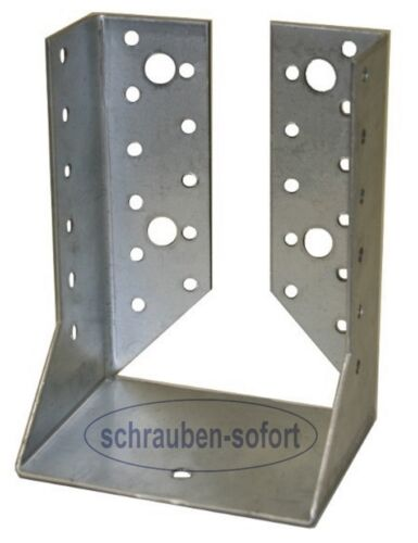 Balkenschuhe 100 x 140 mm verzinkt  innen abgewinkelt  mit Zulassung