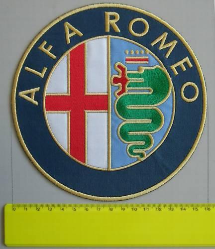 TOPPA ALFA ROMEO PATCH RICAMATO TERMOADESIVO DIAM CM 16