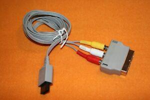Original Nintendo Wii AV Kabel RVL 009 + Euro-Scart-Adapter