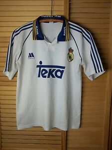 check out fbefc 5a207 Details about Vintage Real Madrid Jersey #7 Raul Teka rare soccer football