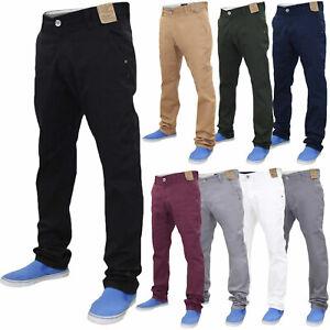 Jacksouth-Herren-Chino-Jeans-Regular-Fit-Baumwolle-Stretch-Hose-Hosen-Taille-32-40