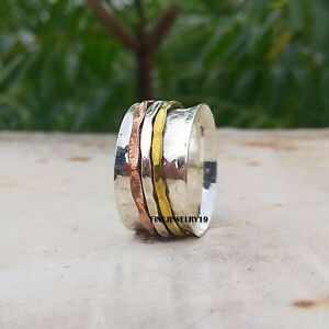 925-Sterling-Silver-Ring-Spinner-Ring-Meditation-Ring-Handmade-Ring-Jewelry-A11