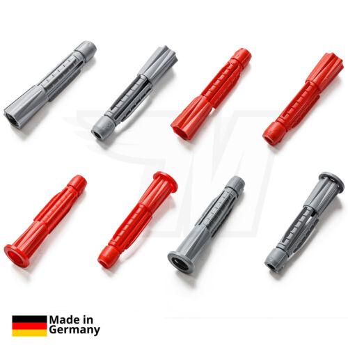 Ohne Kragen Mehrzweck Dübel 100x Universal Kunststoff Dübel 5-14 mm mit