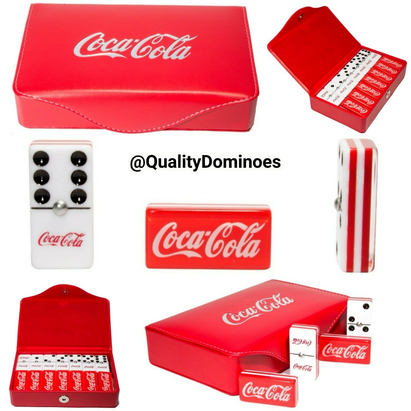 Coca Cola Domino Game Set Double 6 Jumbo Dimensione Dominoes Man Cave Hot Gift Coke