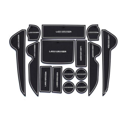 15pcs Non-slip Interior Door Slot Rubber Cup Holder Mat For Toyota Land Cruiser