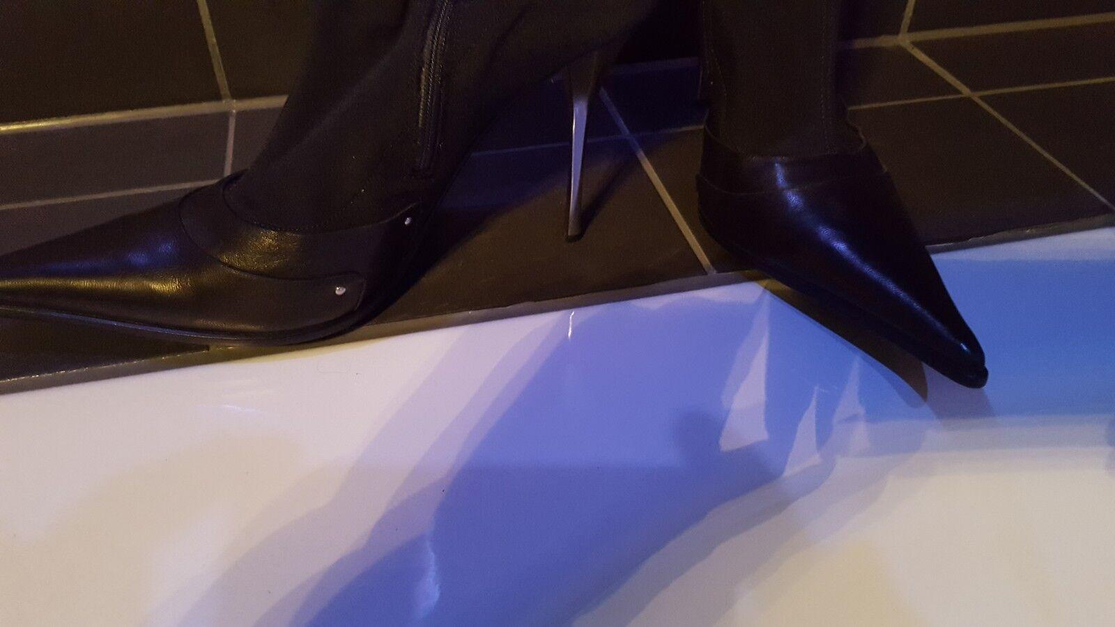 Overknee Stiefel Gianmarco Lorenzi Echt Leder Neuwertig Gr. 39 39 39 20378e