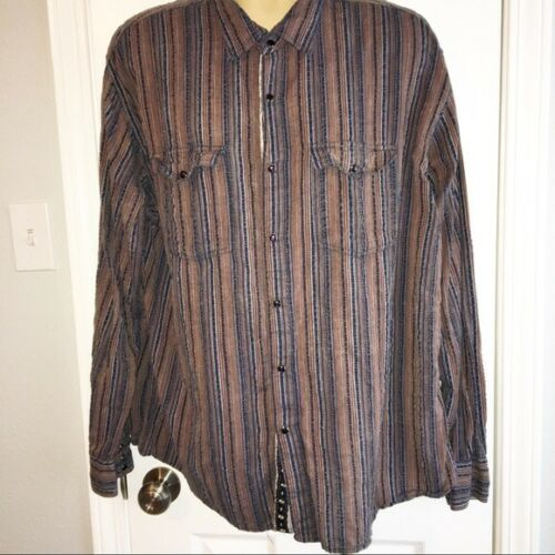 Scully Men's Western Textured Snap Button Shirt XX