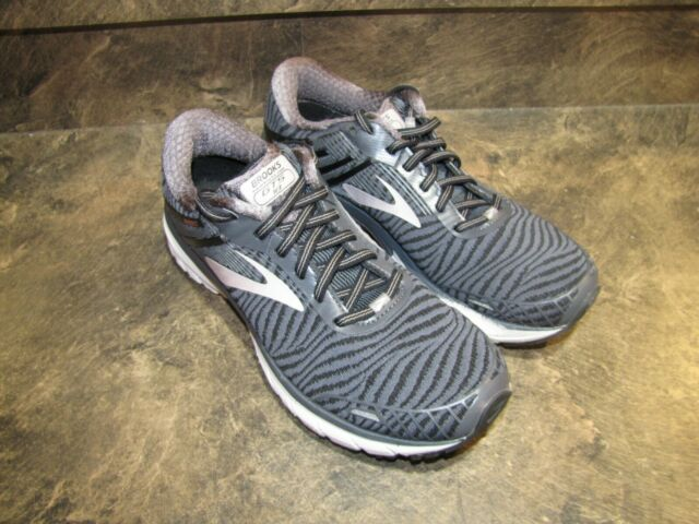 BROOKS ADRENALINE GTS 18 GRAY PINK WOMENS 10 EUC SUPERCLEAN see pics-details