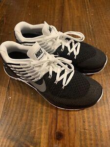 RARE Nike Metcon DSX Flyknit Crossfit Training Sz 9.5 Black White 852930-005