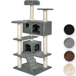 arbre chat griffoir grattoir noir gris beige brun ebay