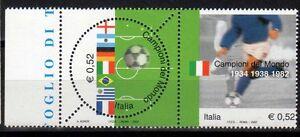 Italia-Repubblica-2002-Campionati-del-Mondo-Calcio-MNH-Varieta-6-fori