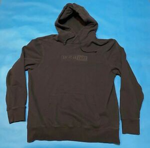 Men's American Eagle Hooded Sweatshirt - Black - Large