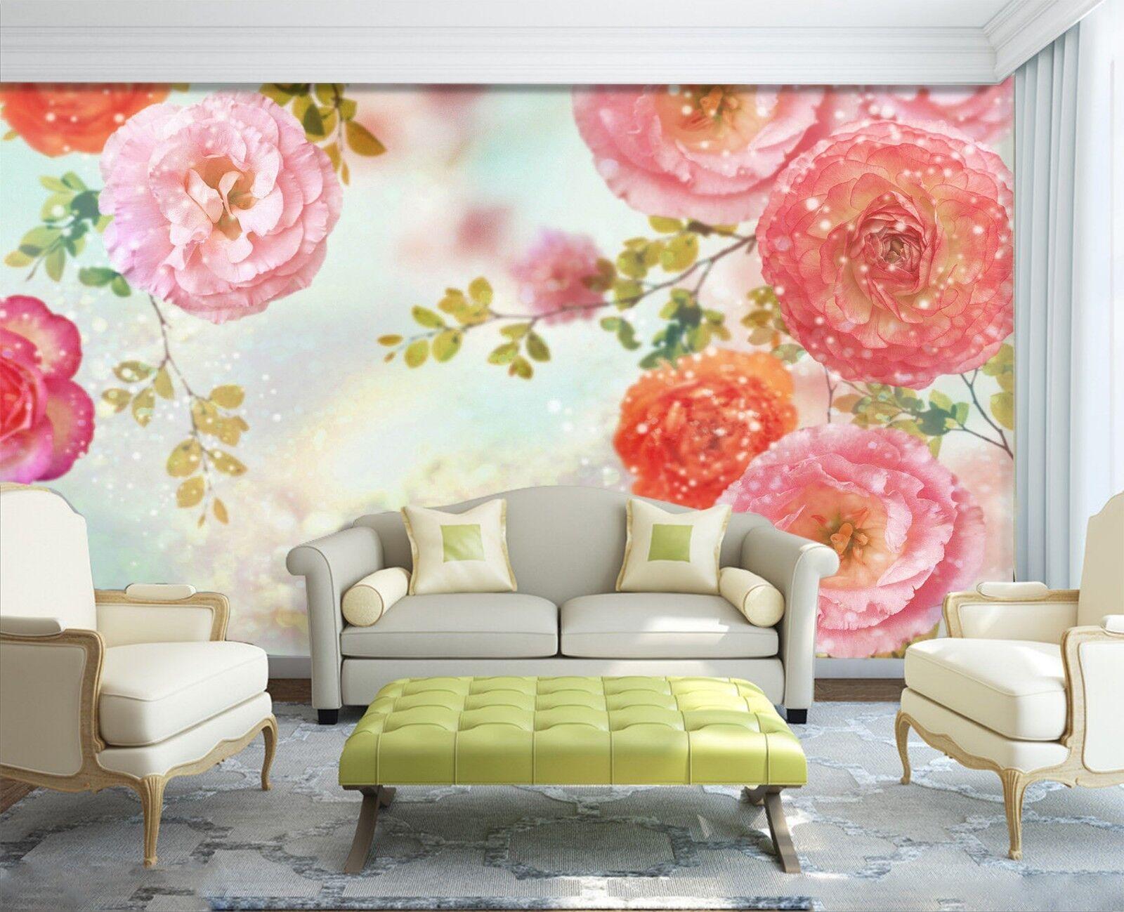 3D Flower Plant 7245 Wallpaper Mural Wall Print Wall Wallpaper Murals US Lemon