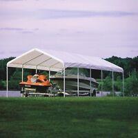 Shelterlogic 30l X 12w Ft. Commercial Grade Canopy, White, 12 X 30