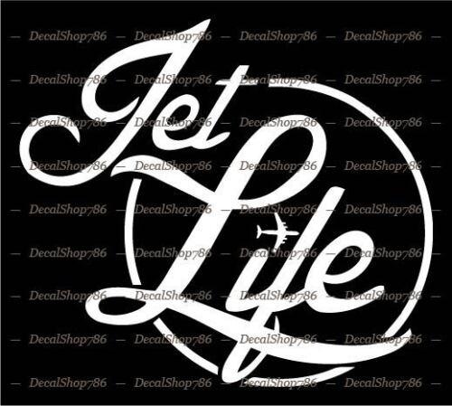 Chiller Jet Life Car//SUV//Truck Vinyl Die-Cut Peel N/' Stick Decal//Sticker