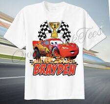 Item 3 Cars Lightning McQueen Custom T Shirt Personalize Birthday Gift Choose NAME