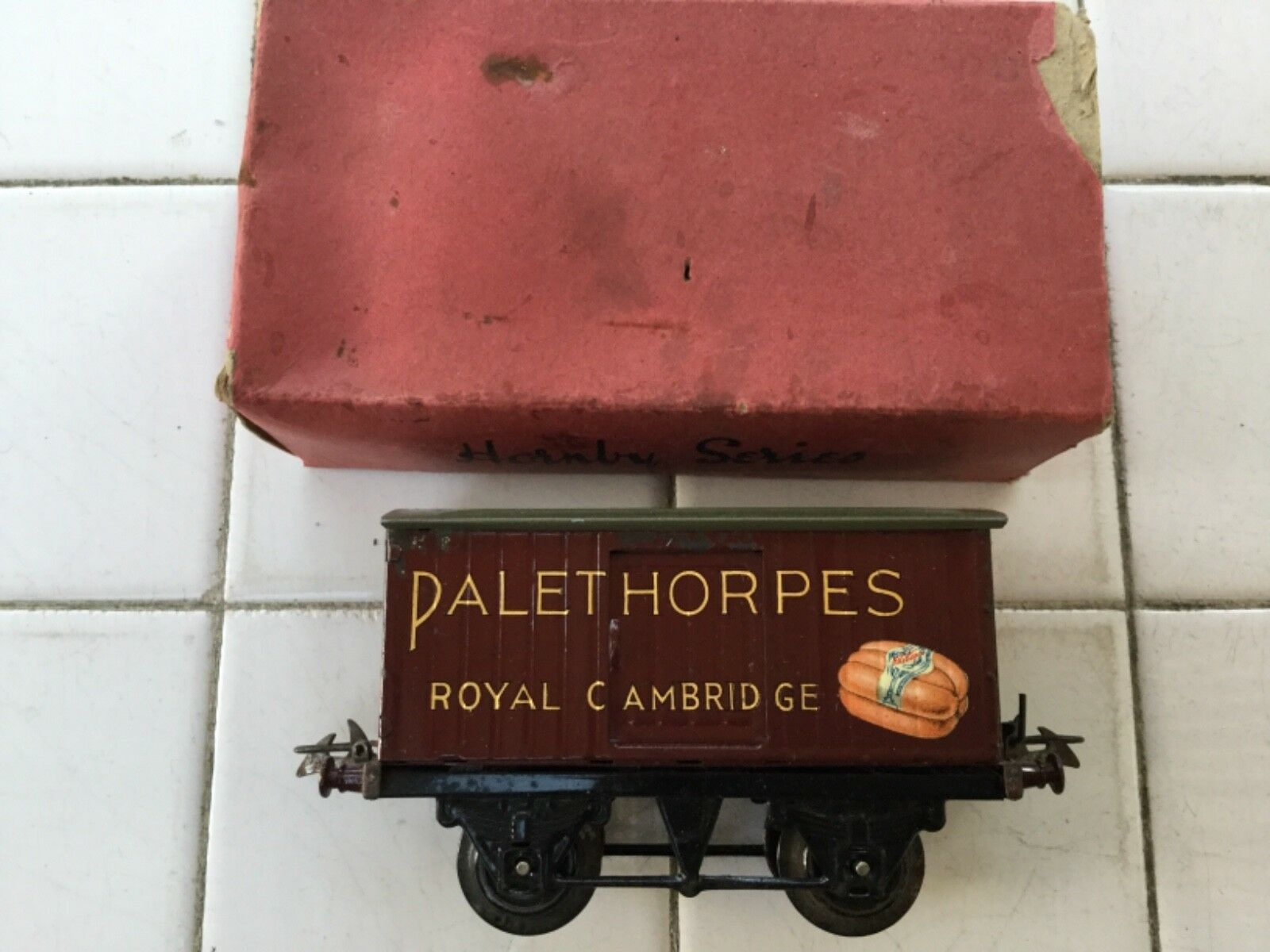 Hornby O Gauge No 1 Private Owner Van Palethorpes Sausages boxed
