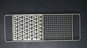 """Vintage Flat Metal Cheese Grater E-Z MFG Co Made In USA 12.5"""" X 4.5"""""""