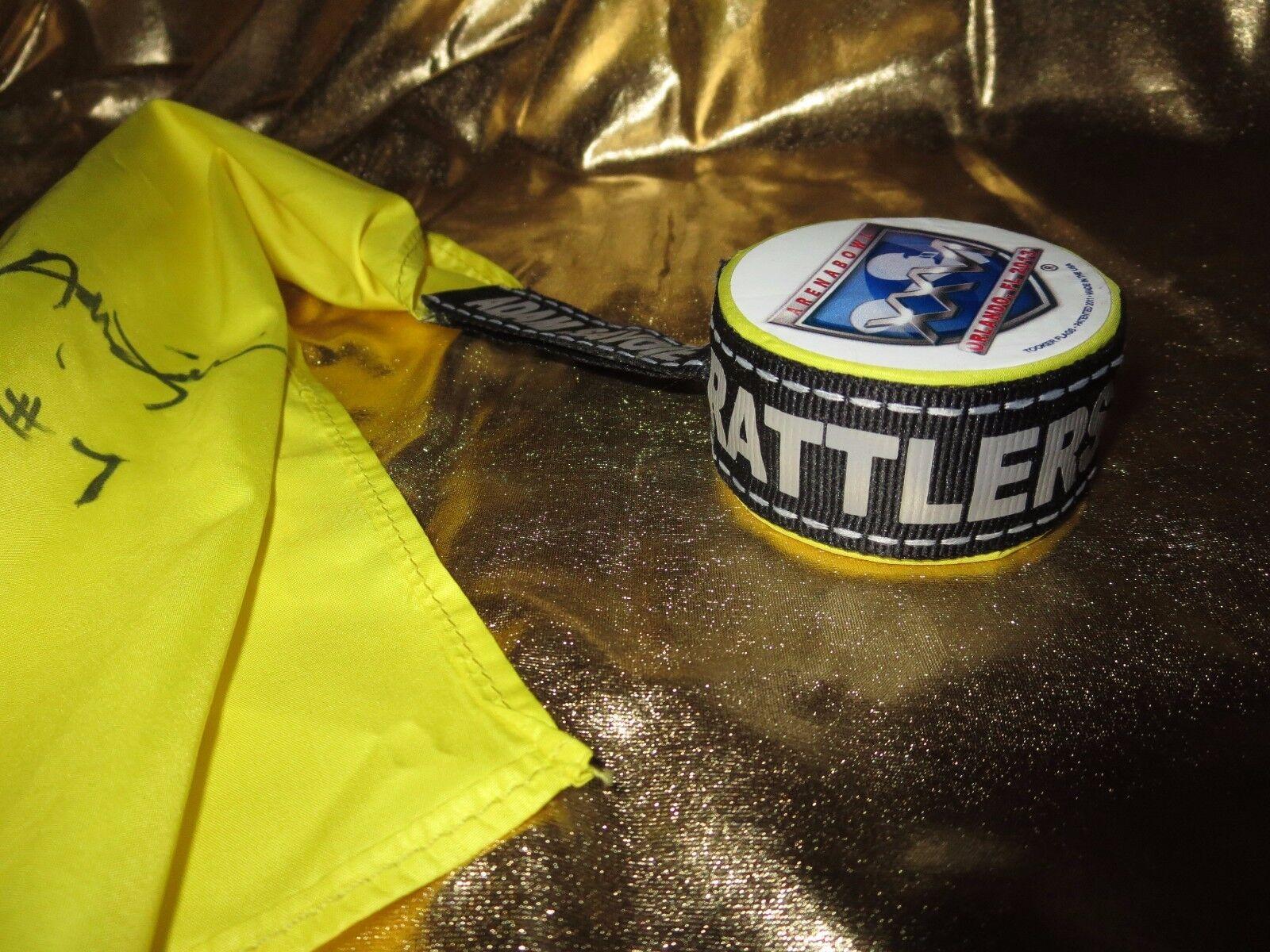 Arizona Rattlers 2013 Arena Tazón AFL Juego Usado árbitro marca marca marca amarilla fa8fd2