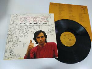 Serrat-Je-Loco-con-Su-Thema-Ariola-1983-Klappcover-LP-Vinyl-12-034-VG-VG