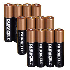 12 Batteries Duracell AAA 1.5V MN2400 Alkaline Batteries FRESH, Retail Packaging