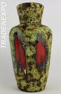 Vintage-1960-70s-SCHEURICH-KERAMIK-LORA-Style-Fat-Lava-Vase-West-German-Pottery