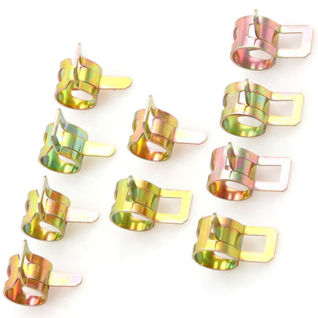 60Pcs Spring Clips Fuel Oil Water Hose Clip Pipe Tube Clamp 6-15mm Kit Gift best