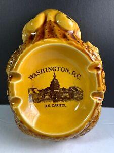 Vintage-Ashtray-Frog-Washington-DC-US-Capitol-Ash-Tray-Made-In-Japan