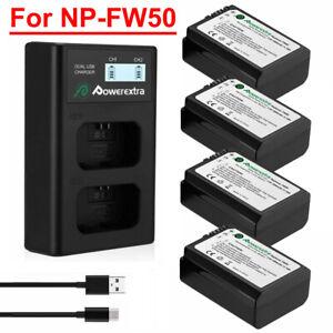 Ladegerät  für Sony Alpha α7 II 2x AKKU NP-FW50 Premium α7S II α7R II