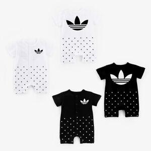 2019-New-Baby-Boys-Girls-Short-Sleeve-Summer-Cotton-Babygrows-Bodysuit-Clothes