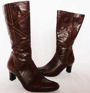 tacones pierna Talla marrón para E Cuero de mujer invierno 4 de Clarks Botas k chocolate media HPYwYq
