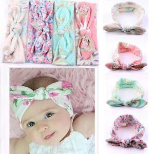 4PCS-Girls-Kids-Baby-Toddler-Turban-Knot-Rabbit-Headband-Bow-Hairband-HeadBands