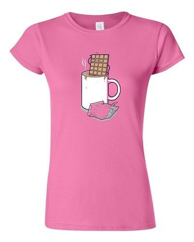 Junior Randy Otter Hot Chocolate Cup Desserts Funny Arts Portray DT T-Shirt Tee
