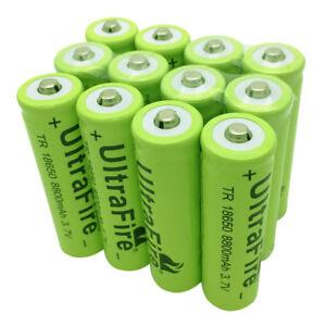2//4//6//8//10x 18650 Batteries 9800mAh 3.7V Li-ion Rechargeable Battery Flashlight