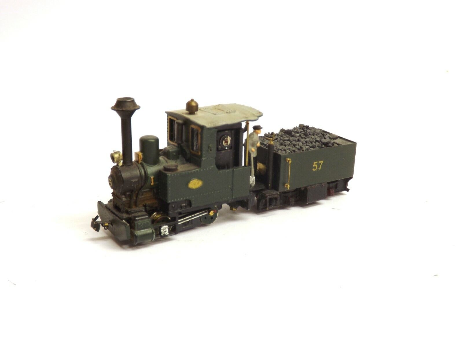040 Ssquadra Locomotive No.57 verde DCC Fitted HOe Scale Unscatolaed