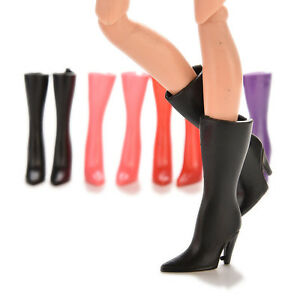 10-Paar-Mode-Hochhackige-Schuhe-2-17-034-Stiefel-fuer-11-034-Doll-Outfit-Gut-ZP