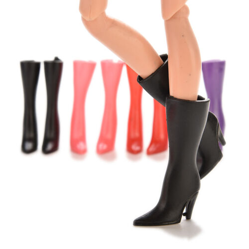 """10Pairs New Fashion High Heeled Shoes 2.17/"""" Boots for 11/""""  Dolls Outfit NIUS"""