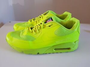 RARE-Air-Max-90-Nike-Hyperfuse-QS-jaune-fluo-Trainer-taille-6-INDEPENDENCE-DAY