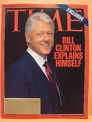 TIME MAGAZINE JUNE 28 2004 BILL CLINTON EXPLAINS HIMSELF 6 28 2004