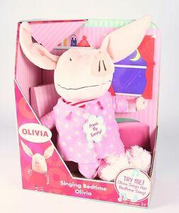 """OLIVIA 12"""" singing bedtime plush soft toy tv programme Ian Falconer - NEW!"""