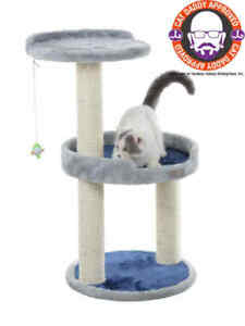 Armarkat-Premium-Cat-Tree-Condo-Bed-Scratching-Post-Perch-Silver-Gray-X2905