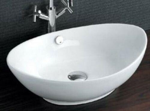 Porcelain//Ceramic Oval Vessel Sink AI-Rome